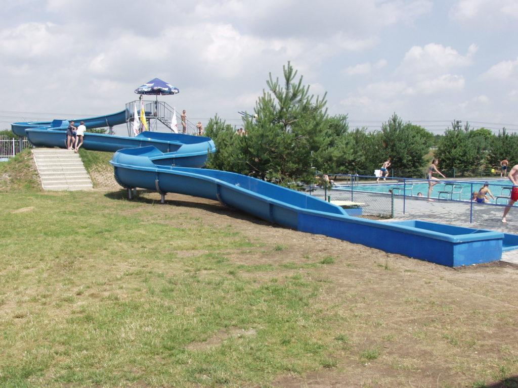 Водные горки в аквапарке Gogolin