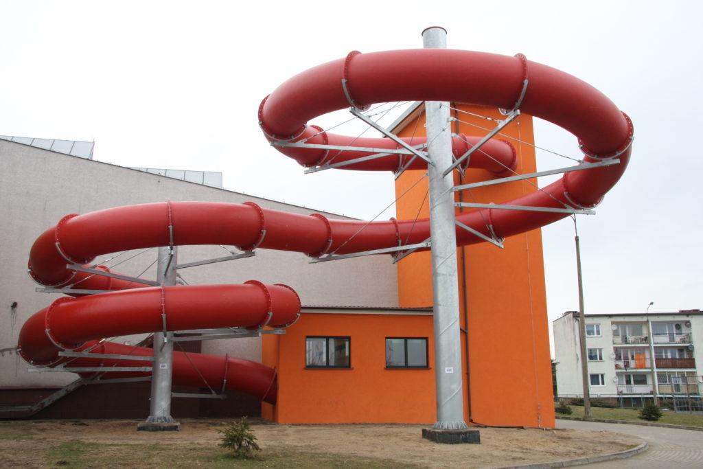 Водные горки в аквапарке Gniewino