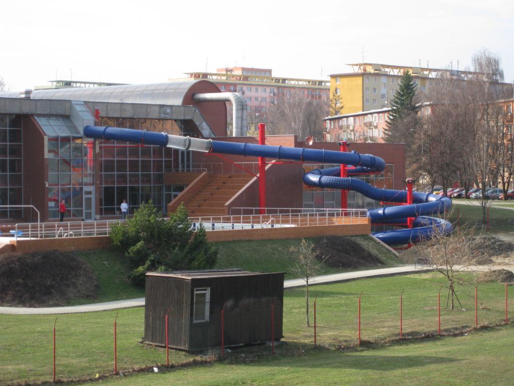 Водные горки в аквапарке Ostrava
