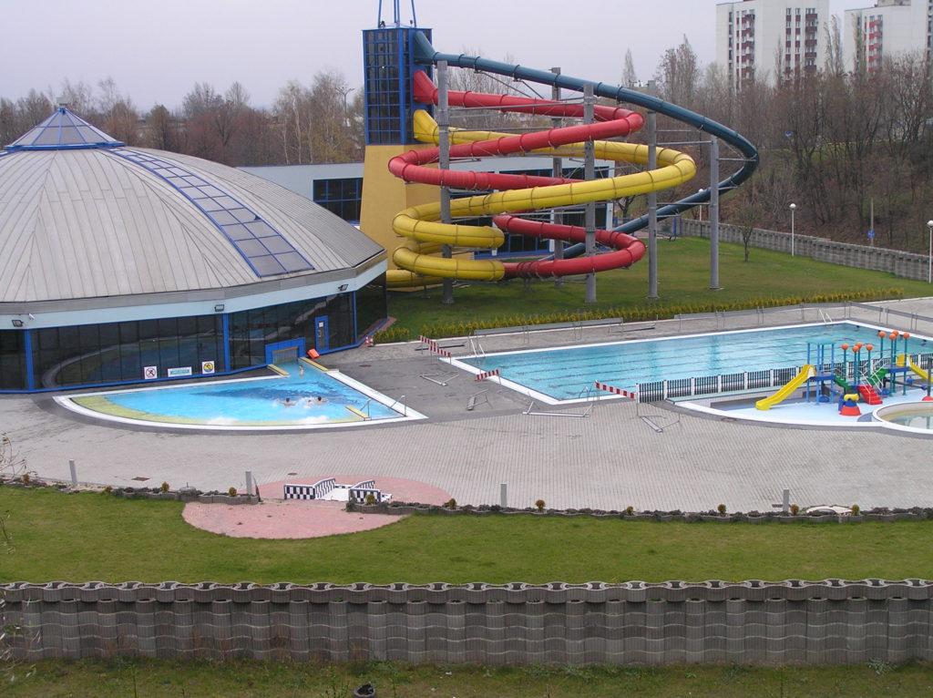 Водные горки в аквапарке Dąbrowa Górnicza