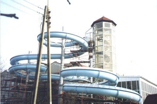 Водные горки в аквапарке Leszno