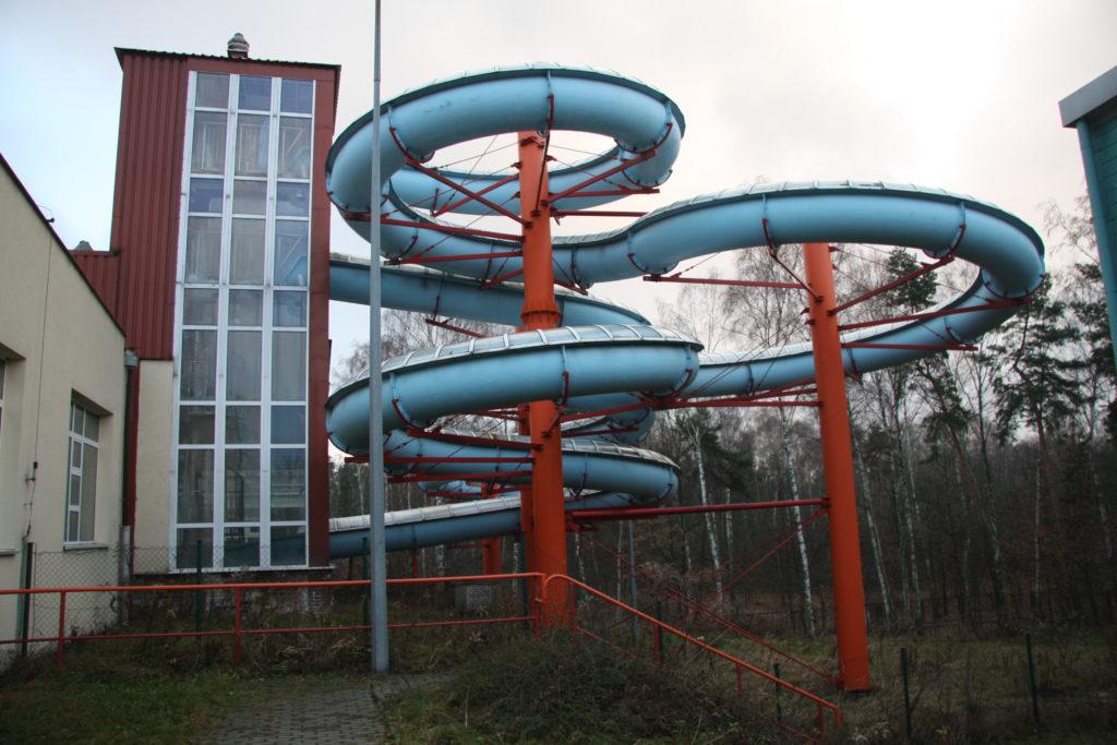 Водные горки в аквапарке Jaworzno