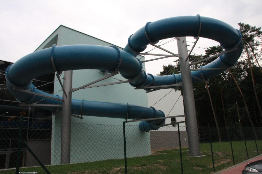 Водные горки в аквапарке Gostyń