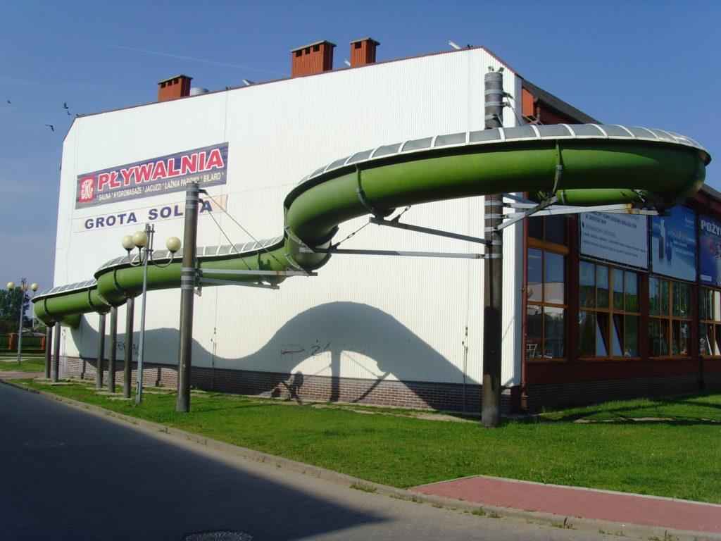 Водные горки в аквапарке Końskie