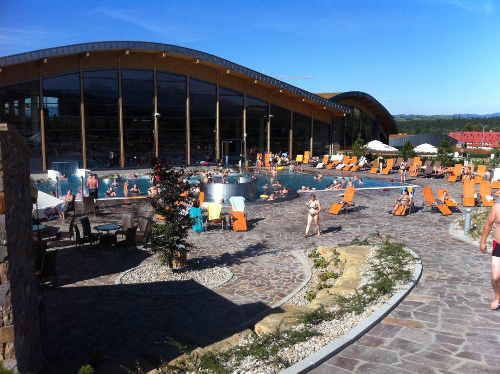 Водные горки в аквапарке Białka Tatrzańska