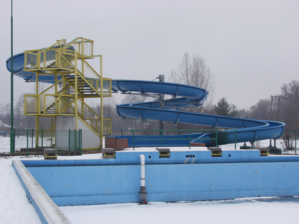 Водные горки в аквапарке Krosno