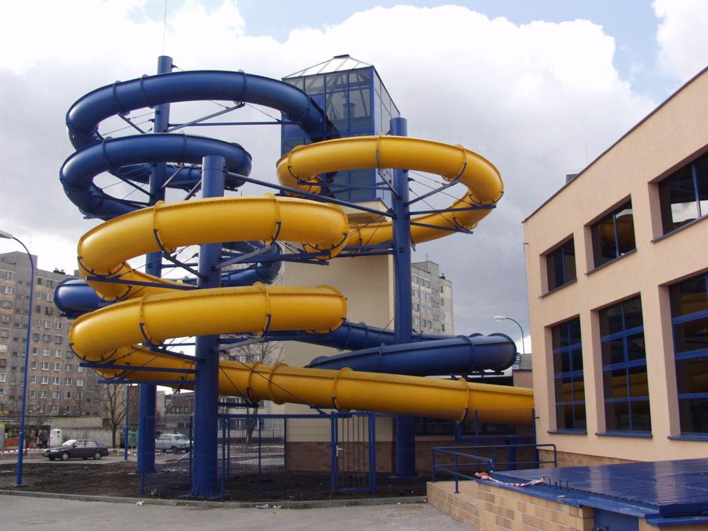 Водные горки в аквапарке Gliwice Warszawska