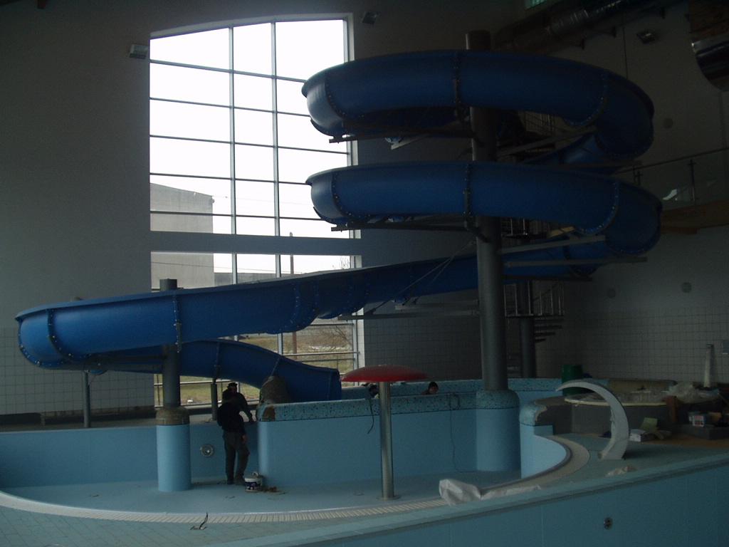 Водные горки в аквапарке Brzesko