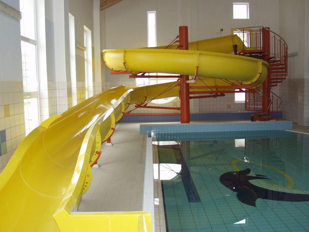Водные горки в аквапарке Bydgoszcz