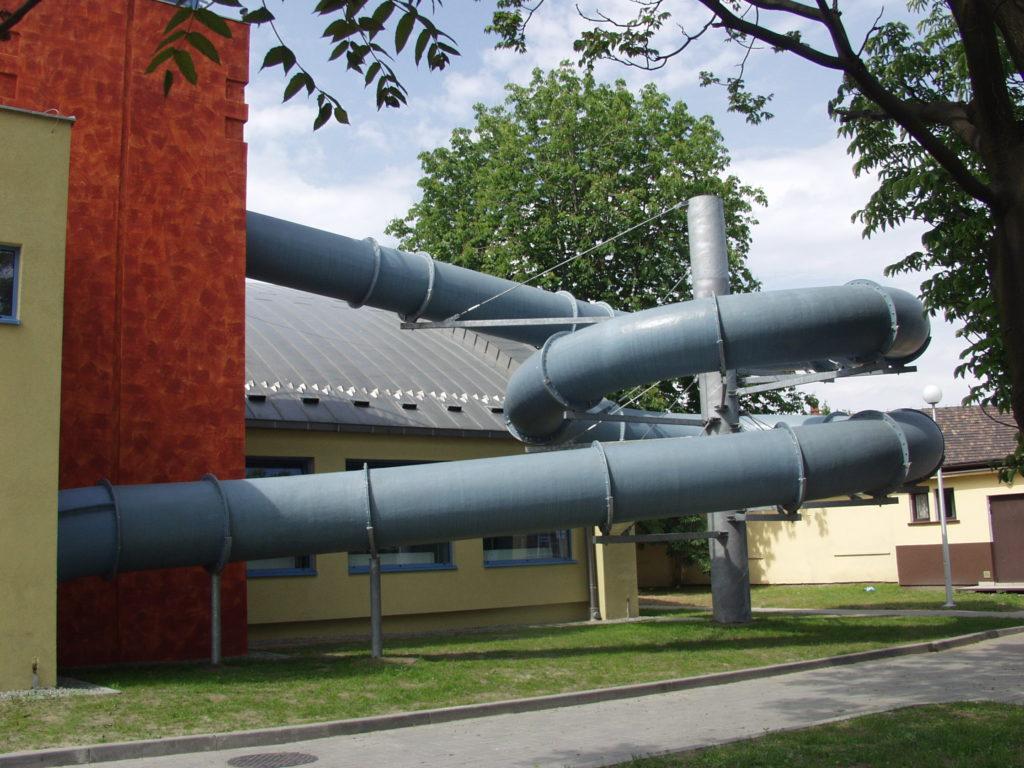 Водные горки в аквапарке Brzeszcze