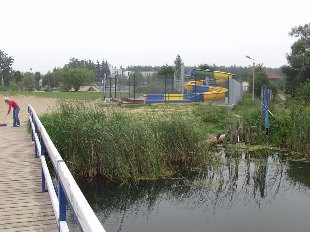 Водная горка у озера