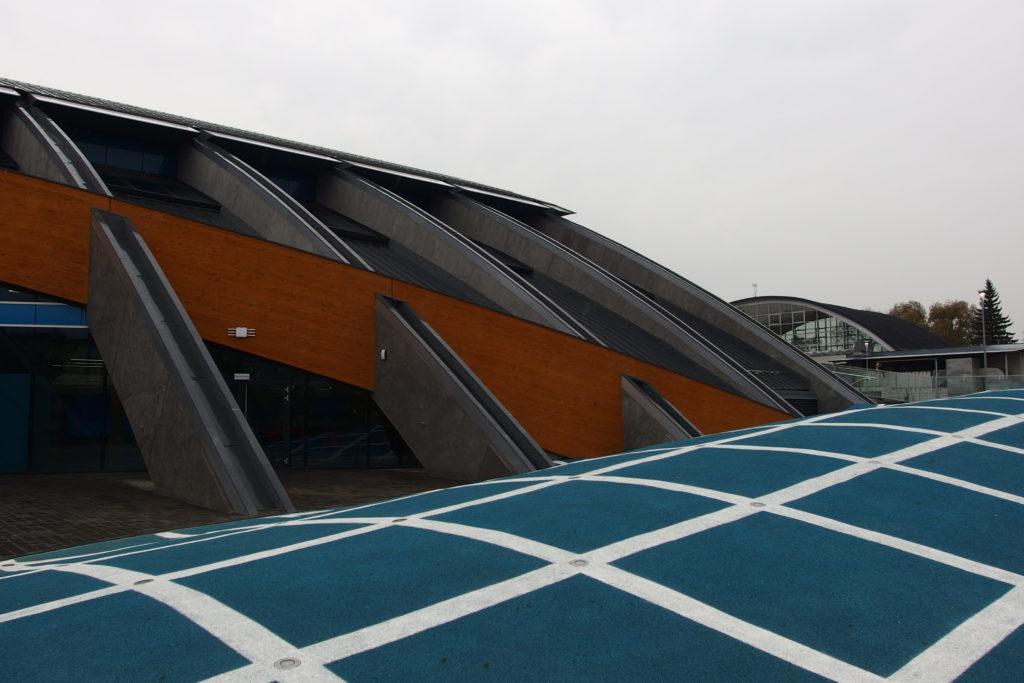 Перекрытия и опорные конструкции здания аквапарка