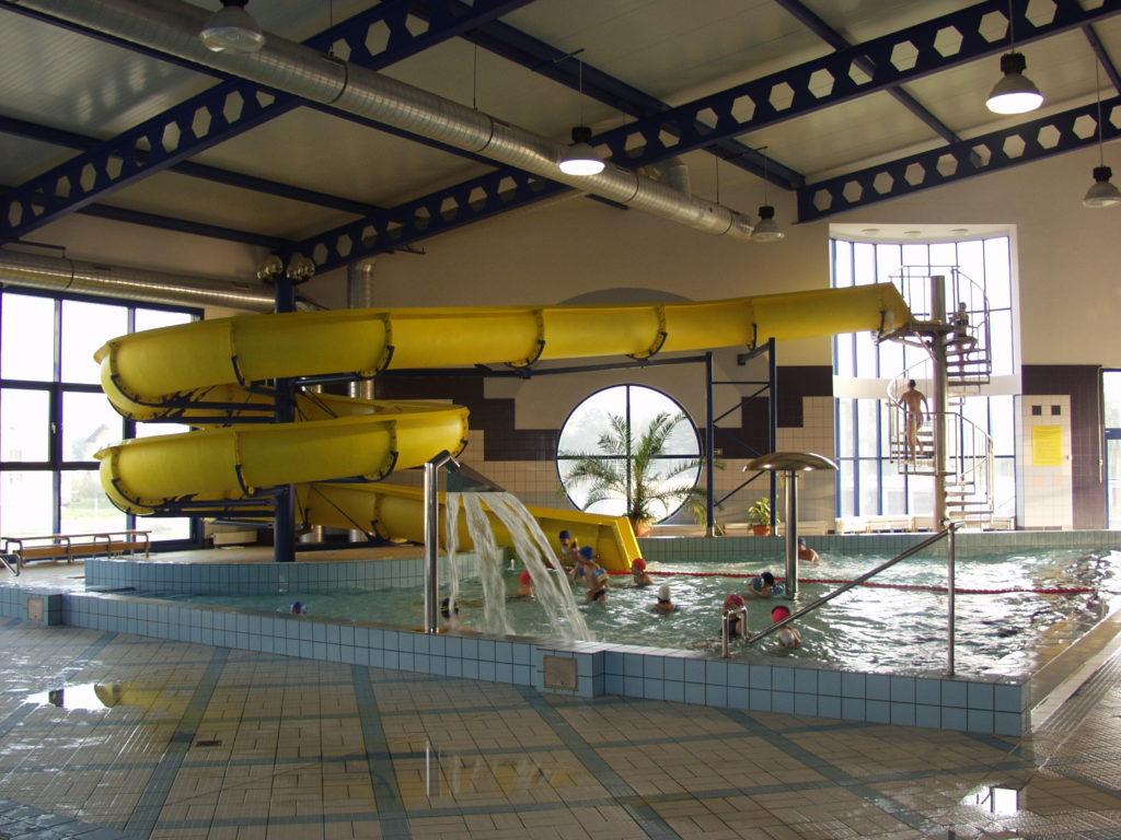 Водные горки в аквапарке Kęty