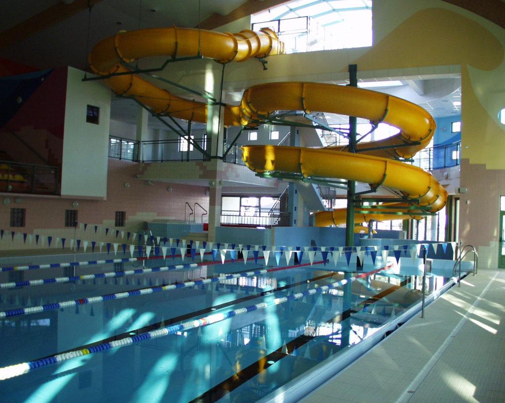 Водные горки в аквапарке Józefów