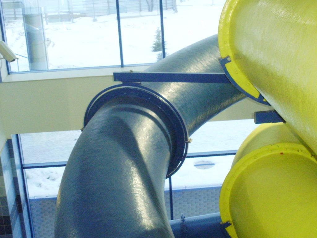Закрытые водные горки диаметром 800 мм.
