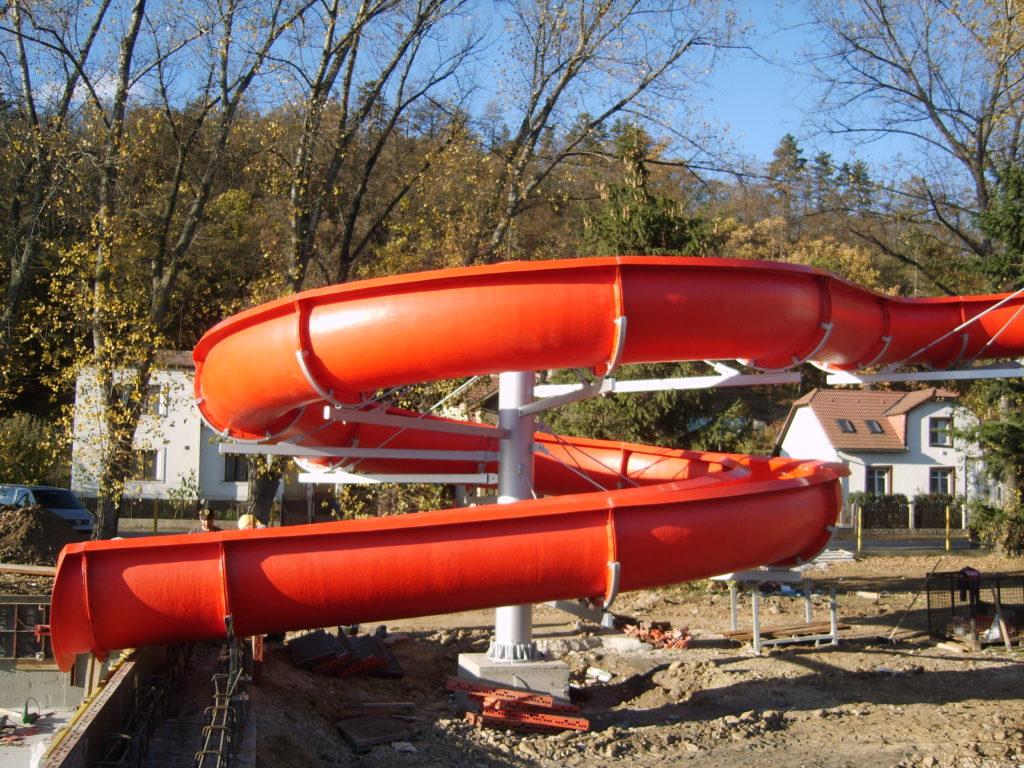 Водные горки в аквапарке Praga-Zdice