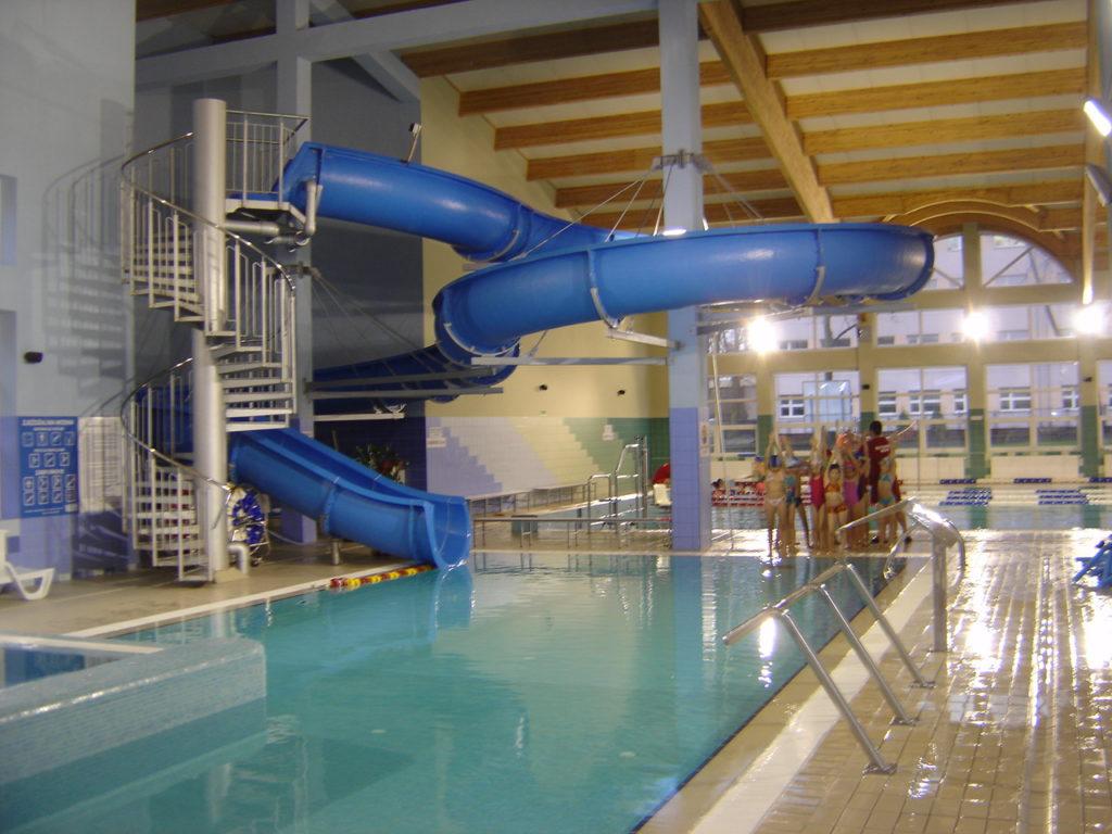 Водные горки в аквапарке Mikołów