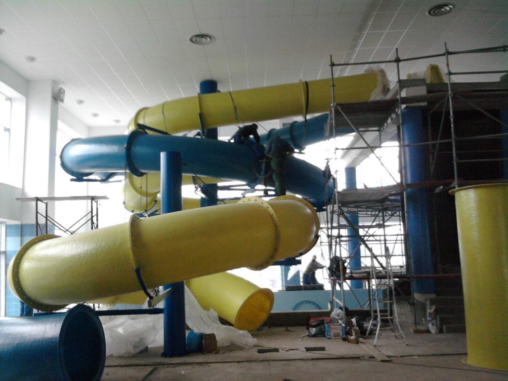 Строительство водных горок