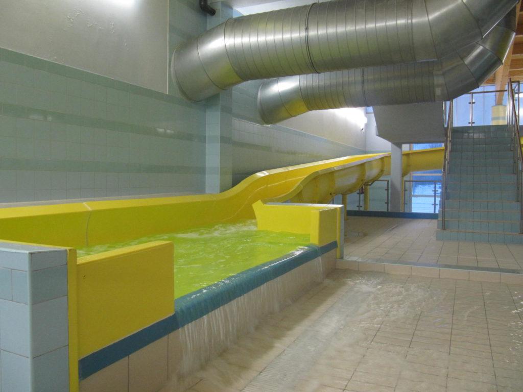 Пробный запуск водной горки