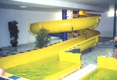 Водные горки в аквапарке Olesno regenerowana