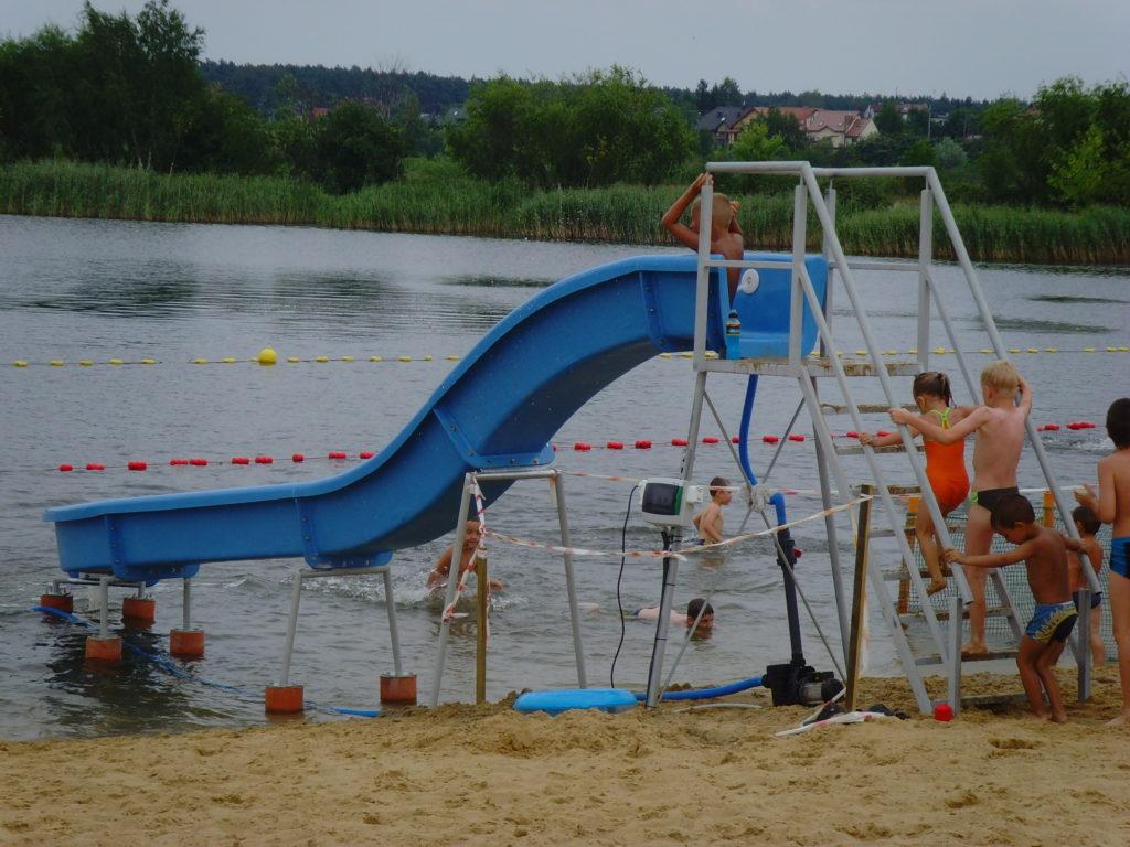 Водная горка длиной шесть метров