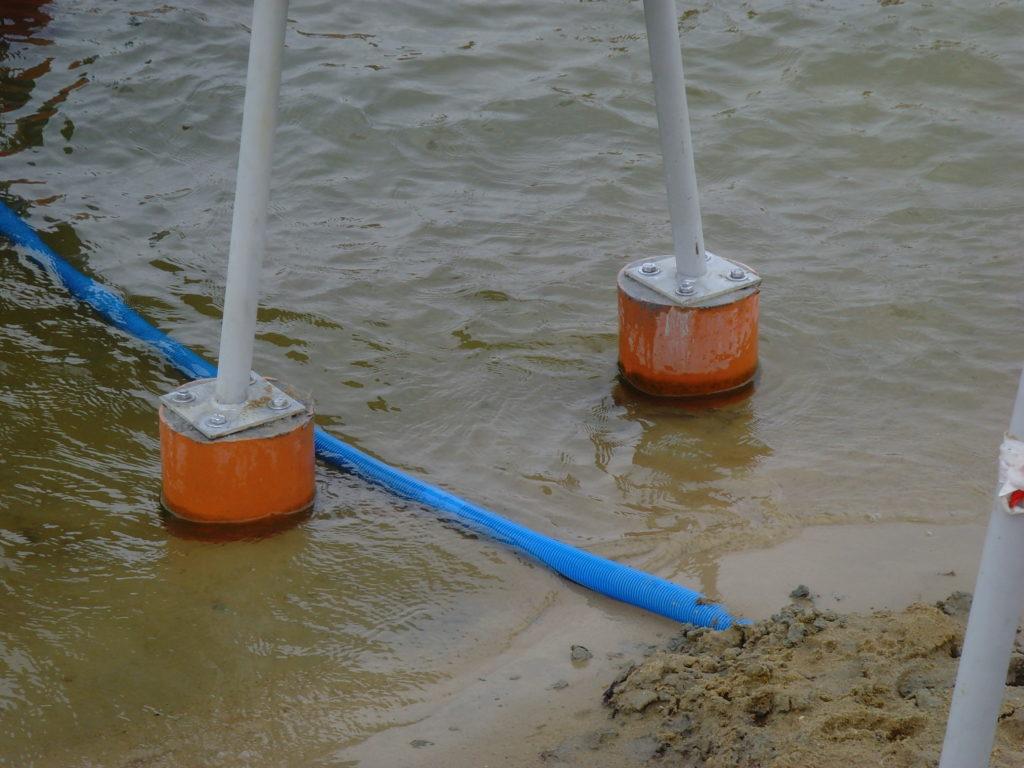 Фундамент под опоры водной горки