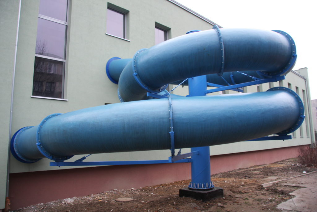 Водные горки в аквапарке Świętochłowice