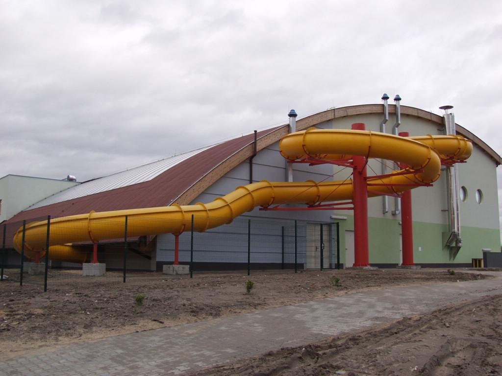 Водные горки в аквапарке Szamotuły