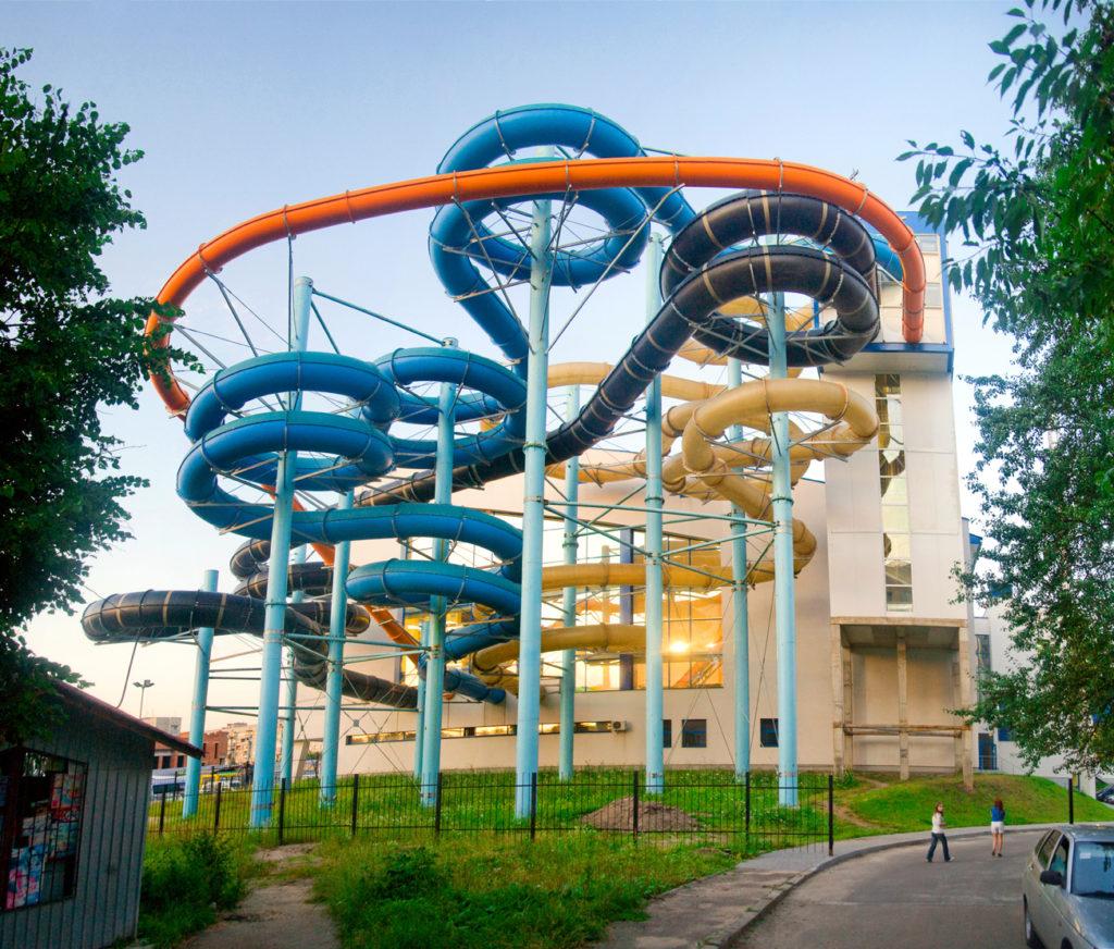 Водные горки в аквапарке Ukraina Lwów