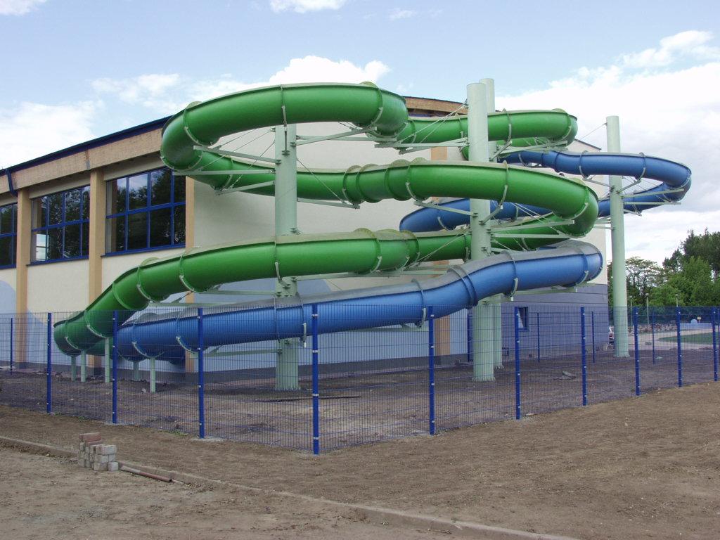 Водные горки в аквапарке Sochaczew