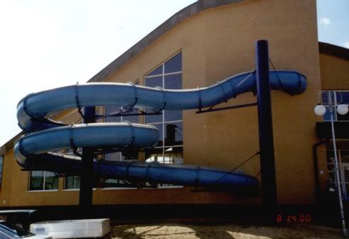 Водные горки в аквапарке Ustrzyki Dolne